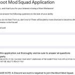 Moot Mod Squad Application